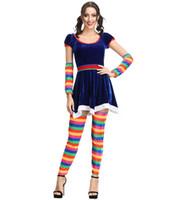 женские костюмы клоуна оптовых-Взрослый сексуальный цирк клоун наряд маскарадный костюм красный костюм карнавал дамы женщины Женщины MS1157