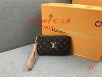 Wholesale bag acrylic colors resale online - 32 Colors Brand Designer Wallets Wristlet Women Coin Purses Clutch Bags Zipper Pu Design Wristlets Colors AAAA0233