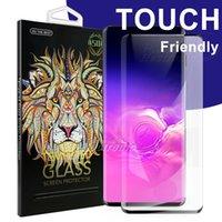 protector de la pantalla del iphone 5g al por mayor-Para S10 5G más SIN AGUJERO Cristal Samsung Galaxy S10 s9 s8 Plus s7 edge 5D Protector de pantalla de huella dactilar de cubierta completa Cristal templado