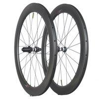 rodas da bicicleta da fibra do carbono que competem venda por atacado-2019 mais novo 50mm x 25mm clincher luz bicicleta rodado bicicleta par 700c jantes de fibra de carbono estrada de corrida de rodas de bicicleta rodas de carbono DT350s