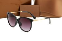 ayna gölgeleri güneş gözlüğü toptan satış-Yeni Tasarımcı Moda Kadınlar Güneş lüks Gözlükler Açık Shades PC Çerçeve Klasik Bayan lüks Güneş Gözlüğü Aynalar