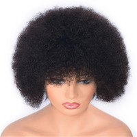 Wholesale inch curly human hair wigs for sale - Group buy Brazilian Lace Front Wig Afro Curly Human Hair Wigs Pre Plucked Hairline inch Short Virgin Hair Wigs