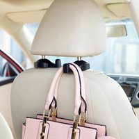 Wholesale resin seats resale online - 1Pair Useful Resin Car Seat Headrest Hook for Bags Organizer Holder Clothes hanger Car styling Auto Accessories