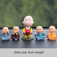 Wholesale safe decor resale online - Mini Toys Car Ornaments Monk Dolls Cute Cartoon Funny Lovely Car Dashboard Decor Auto Styling Accessories Means Safe Driving