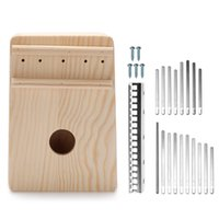Wholesale musical instruments for professional for sale - Group buy Simple Assembly Kalimba Handwork DIY Kit Wood Finger Thumb Piano for Children Kids Musical Instrument