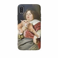 Wholesale cover for cell phone apple cat for sale – best Retro Girl and Cat Painting Shockproof Soft Back Cover TPU Cell Phone Cases Protective Covers For iPhone X XR XS MAX S PLUS