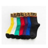 ingrosso calzini da uomo di marca-100 Calzini da uomo in cotone Famoso stilista uomo Calzino sportivo lungo Casual Calze traspiranti Business Brand Calze Vintage Calze vintage