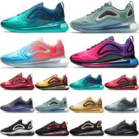 Wholesale black winter shoes for women online - 720 Running Shoes For Men Women Sunrise Sunset Northern Lights Carbon Grey Gold Red Pink Sea Forest Triple Black White Sport Sneakers