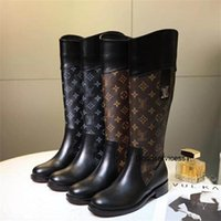 Wholesale Latest Women Boots Two Colors Flatforms Shoes In Stock Autumn Winter Snow Boots with Box