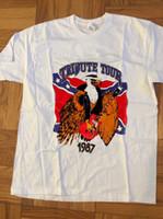 ingrosso concerti alti-Lynyrd Skynyrd Vintage Concert T Shirt Tribute Tour 1987 Top Tee REPRENT