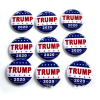 Wholesale metal coatings resale online - 2020 America President Election Badges United States Donald Trump Brooch Pins Metal Armband For Coat Decoration qf E1