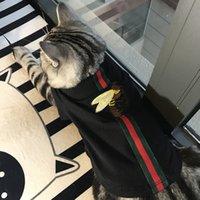ingrosso abbigliamento di lusso-Lusso Popolare cane cappuccio Marchio marea Cute Teddy Puppy Schnauzer Abbigliamento autunno inverno caldo Outwears Little Bee Maglione Abbigliamento