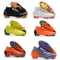 f2926d624 Original Mercurial Superfly VI Elite Ronaldo CR7 FG Soccer Cleats Fly Knit  Kids Mens Womens Soccer Shoes Magista Obra II FG Football Boots