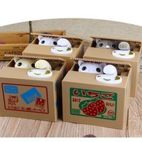 Wholesale japanese toys for kids resale online - Cartoon Japanese Money Stealing Cat Piggy Bank Saving Eat Coins Money Safe Digital Box Toy Ornament Gifts For Kids Gift