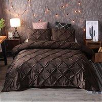ingrosso set di lenzuola di lusso marrone-Set biancheria da letto Copripiumino Copripiumino Copripiumino Set copripiumini New Brown Luxury