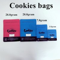 Wholesale cookie packing bags resale online - Cookies Bags California SF th g Mylar Childproof Packing gram resealable zipper Vape Cartridge package