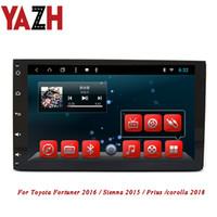 rádio gps corolla venda por atacado-YAZH 2 Din Android Car DVD Estéreo Para Toyota Fortuner 2016 / Sienna 2015 / Prius / corolla 2018 GPS Rádio Multimídia AUX Bluetooth