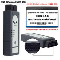 vw puede códigos de bus al por mayor-2019 Con automóvil Bluetooth de diagnóstico 6154a herramienta VAS y 512 g SSD con ODIS 5.1.6 última versión del software de envío libre OBD2 VAS 6154 OKI
