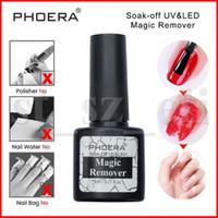 limpiador uv esmalte de uñas al por mayor-PHOERA Soak Off UV Gel Burst Magic Remover Esmalte de uñas Nail Art Primer Acrílico Desengrasante limpio para laca 8ML