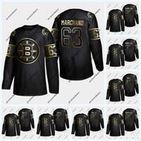 pastrnak trikot großhandel-Boston Bruins 2019 Golden Edition Brad March und Pastrnak Marcus Johansson Krejci Tuukka Rask Kevan Miller Patrice Zdeno Char Jersey