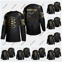 Wholesale boston hockey jerseys resale online - Boston Bruins Golden Edition Brad Marchand Pastrnak Marcus Johansson Krejci Tuukka Rask Kevan Miller Patrice Zdeno Char Jersey