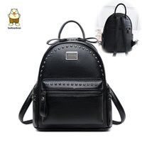 Wholesale used school bags resale online - Beibaobao Women Fanshion Backpacks High Quality School Bags For Girls Work Lady s Bags Pu Leather Rivet Multi use