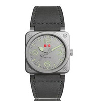 ingrosso orologi di grande fascia-lusso BELL acciaio orologio da uomo orologi numeri facce grandi Calendario automatico moda Semplice stile casual design quadrante unico cinturini in pelle