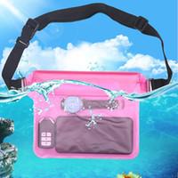 acessórios para celular venda por atacado-Saco da cintura à prova d 'água subaquática dry case capa para iphone pacote de telefone celular saco bolsa de bolso case capa de natação acessórios novo