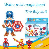 brinquedos mágicos contas venda por atacado-Hot Água Aqua beads brinquedos perler perler beads pegboard set grânulos de fusível jigsaw puzzle água mágica talão beadbond educacional kids toys