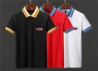 almanya şortları toptan satış-SıCAK Moda Kafatası LOGO Marka erkek Polo Gömlek Almanya ünlü Tasarımcı Yaz kısa kollu Adam Yaka Tees gg Luxurys boyutu m-3xl
