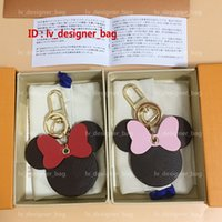 Wholesale key ring charm holder for sale - Group buy HOT Luxury Designer Key Chain Keychain Mickey Fashion Cute Key Ring Holder Wallet Women Bag Charm Keyring Llavero Gifts High Quality