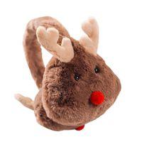 çocuklar kış kulak muffs toptan satış-Yeni Kış Sıcak Güzel Karikatür Elk Peluş Çocuk ve Yetişkinler Kadınlar Earmuffs Kulak Kalın Erkek Kız Kulak Muffs AD0708