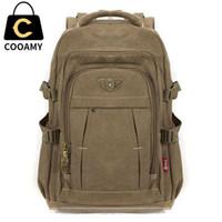 Wholesale canvas backpack military for sale - Group buy Men s Military Canvas Backpack Zipper Rucksacks Laptop Travel Shoulder Mochila Notebook Schoolbags Vintage College School Bags T191021