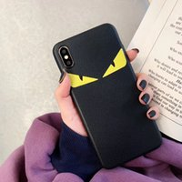 Wholesale italy case resale online - Hot fashion Italy leather Devil eyes case for iphone Pro X XS Max Xr S Plus Luxury phone cover