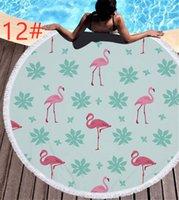 toallas funcionales al por mayor-Flamencos densos 13 diseños Toalla de playa multifuncional Esencial para el viaje en la playa Tomar el sol en la playa Manta de secado rápido Sin estática.