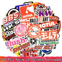 motosiklet değişiklikleri toptan satış-100 ADET Araba Yarışı Ev Dekorasyon Çıkartmaları Graffiti JDM Araba Modifikasyon Su Geçirmez Sticker için Motosiklet Bisiklet Kask Bavul Dizüstü