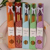 favores de palillos al por mayor-Palillos de bambú práctico Palillo natural fibrosidad nuevo estilo personalizado palillos cubiertos boda favorece a los sorteos de regalos RRA2710