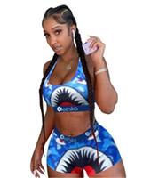 Designer Ethika Women Swimwear Beachwear -shaped Swimsuit Swim Shorts Plaid Swimming Suit Shark Camouflage Camo Swim Suits Bikini Set