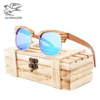 Wholesale zebra sunglasses for sale - Group buy Classic zebra glasses wooden frame frames fashionable trendy people simple polarizing sunglasses men s travel Sunglasses