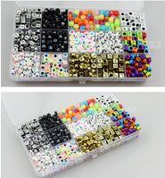 Wholesale exercise toys resale online - Acrylic alphabet beads Macroporous alphabetics beads alphabets bead single letters optional acrylic MM alphabets beads DIY accessories