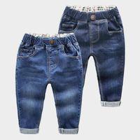 hohe mode kinder jeans großhandel-2018 frühling Kinder Jeans Jungen Mädchen Mode Löcher Jeans Kinder Jeans Für Jungen Casual Denim Hosen 2-6y Kleinkind Hohe Qualität J190517