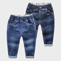jeans de qualidade meninos venda por atacado-2018 Primavera Crianças Jeans Meninos Meninas Moda Buracos Jeans Crianças Calça Jeans Para Meninos Calça Jeans Casual 2-6y Criança Alta Qualidade J190517