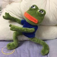 sapos de brinquedo recheado venda por atacado-42 cm Expressão Mágica Pepe O Sapo Triste Sapo de Pelúcia 4chan Bonecas Meme Stuffed Toy Animais Presente J190506