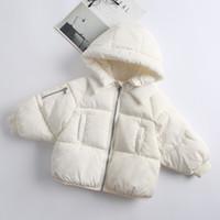 chaquetas de plumas coreanas al por mayor-Venta al por menor 5 colores los niños abrigos de invierno de las muchachas de diseñador coreano gruesos acolchados chaquetas con capucha abajo cubren la ropa de pan ropa exterior ropa hijos