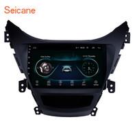 aparelho de som para hyundai elantra venda por atacado-OEM Android 8.1 9 polegadas Touch Screen Car Stereo para 2011 2012 2013 Hyundai Elantra com Bluetooth GPS Navi Suporte controle remoto sintonizador de TV