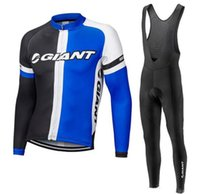 Wholesale giant mtb long sleeve jersey resale online - GIANT Cycling Jerseys outdoor Quick dry Cycling long sleeve jersey bib pants sets MTB Bike jersey ropa ciclismo
