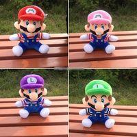 стиль ребенка фаршированные игрушки оптовых-Горячие Продажа 4 Стиль 20см MARIO ЛУИДЖИ Супер Марио Bros плюшевые куклы Мягкие игрушки для младенцев Хорошие подарки