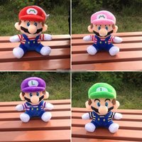 Wholesale super games for sale - Group buy Hot Sale Style CM MARIO LUIGI Super Mario Bros Plush Doll Stuffed Toys For Baby Good Gifts