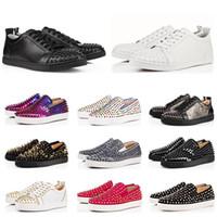 ingrosso scarpe da ginnastica nere-Christian Louboutin Breathe Black White Mens Scarpe da basket Sneakers Scarpe da corsa per uomo Scarpe sportive, scarpe da passeggio