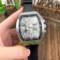 Wholesale iro for sale – best NEW SARATOGE V SC DT IRO COBRA Snake pattern Dial Japan VK Quartz Chronograph Movement Mens Watch Silvery Case Leather Strap Watches